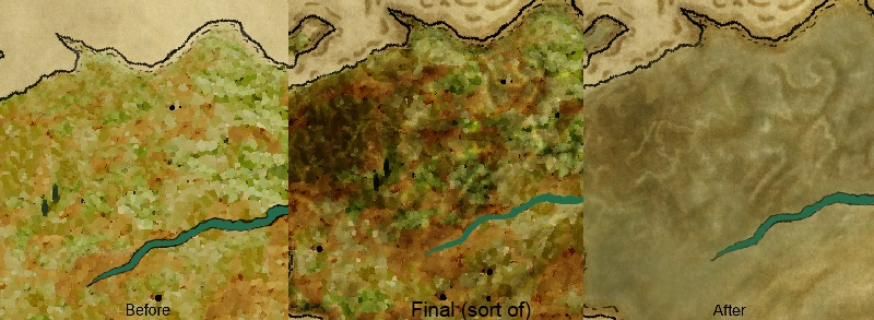 art of war game mediolanum map b4 and After